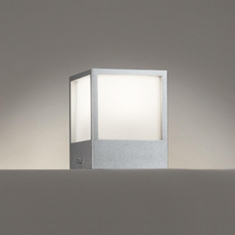 オーデリック LED門柱灯 防雨型 白熱灯60W相当 電球色 マットシルバー OG254620