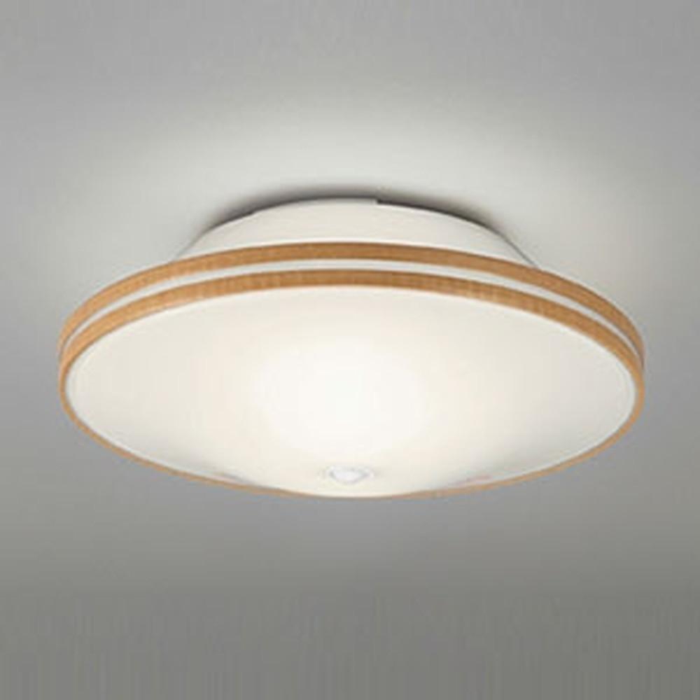 オーデリック LEDシーリングライト ポーチライト連動型 白熱灯50W×2灯相当 電球色 非調光タイプ 人感センサー付 ナチュラル OL011250LD1