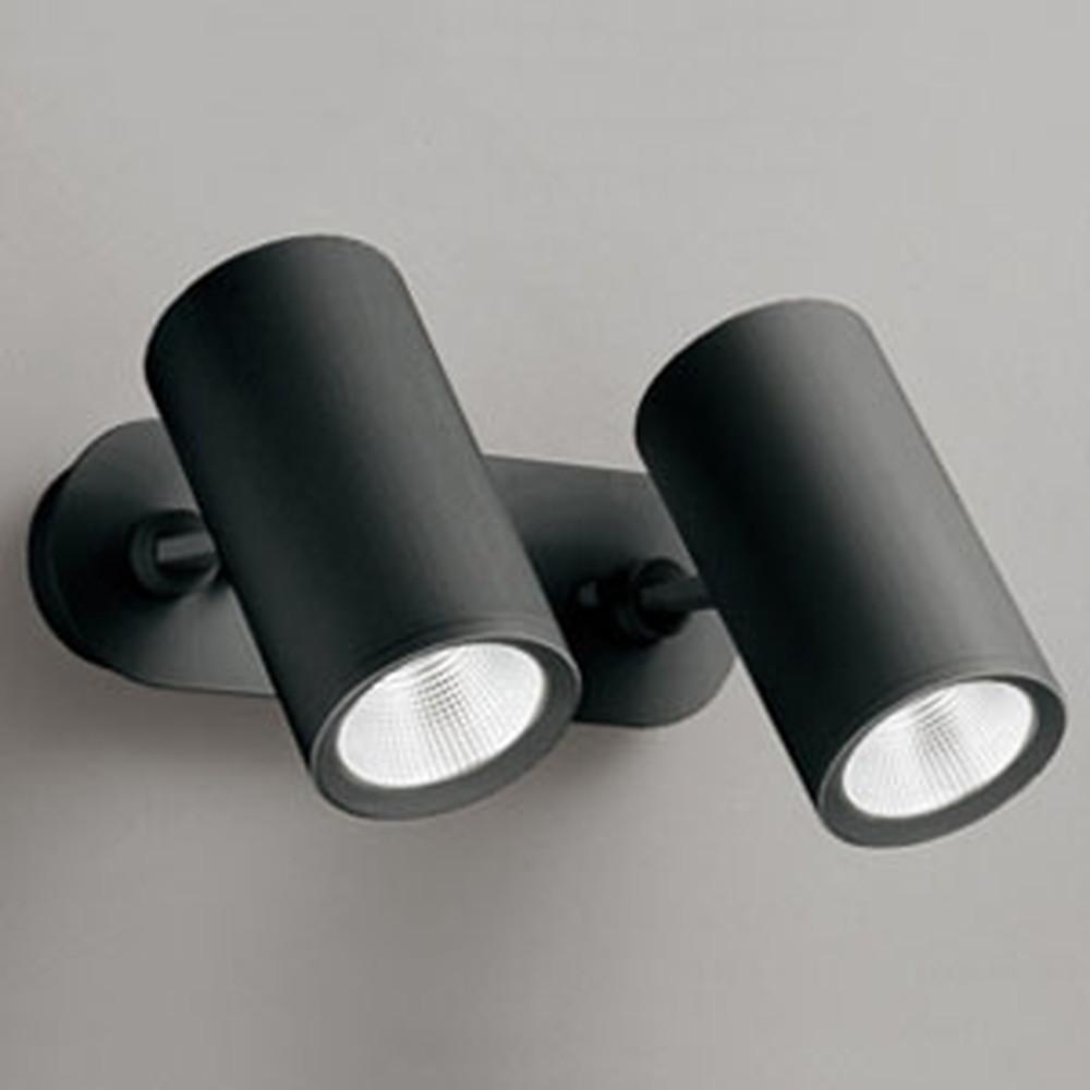 オーデリック LEDスポットライト フレンジタイプ 2灯用 白熱灯100Wクラス 電球色 連続調光 ワイド配光40° 黒 OS256444