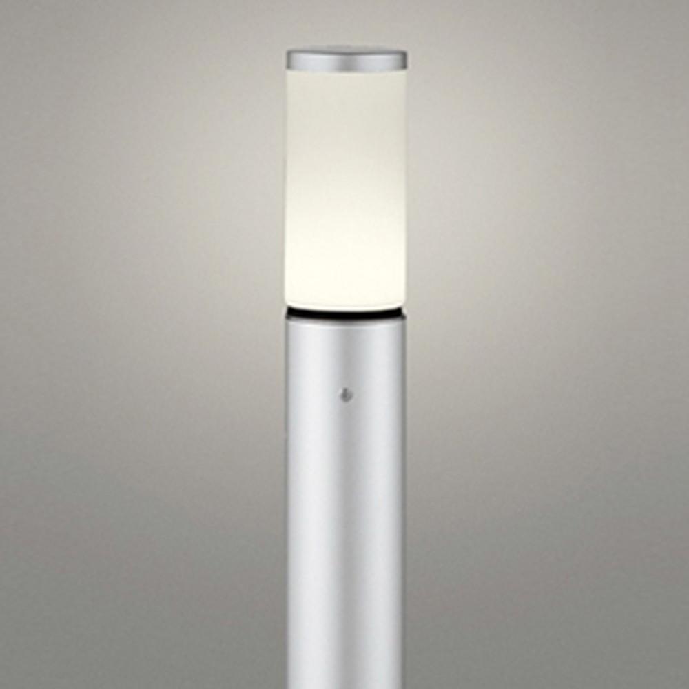 オーデリック LEDガーデンライト 防雨型 白熱灯60W相当 電球色 地上高1000mm マットシルバー OG254654LD