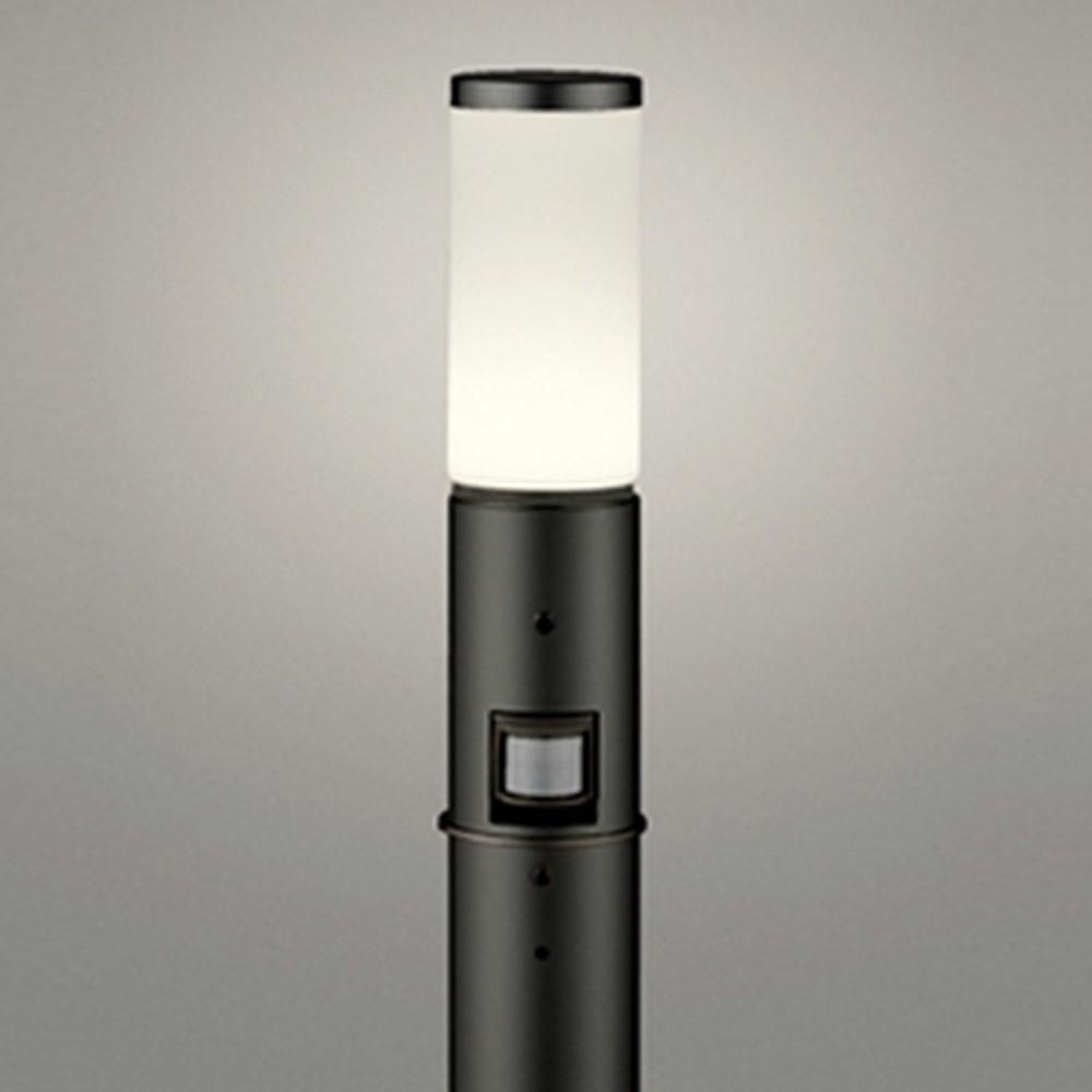 オーデリック LEDガーデンライト 防雨型 白熱灯60W相当 電球色 人感センサー付 地上高700mm 黒 OG254655LC