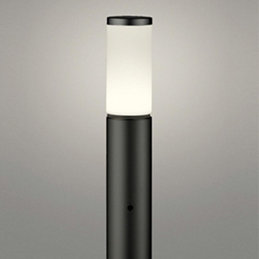 オーデリック LEDガーデンライト 防雨型 白熱灯60W相当 電球色 明暗センサー付 地上高700mm 黒 OG254657LD