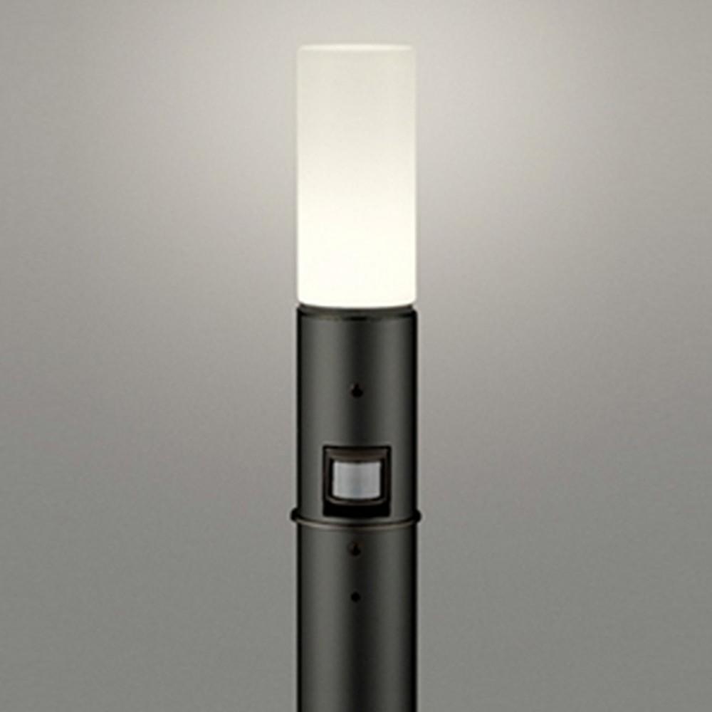 オーデリック LEDガーデンライト 防雨型 白熱灯60W相当 電球色 人感センサー付 地上高1000mm 黒 OG254661LC