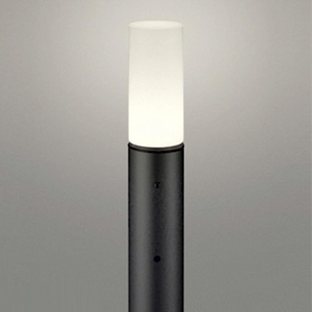オーデリック LEDガーデンライト 防雨型 白熱灯60W相当 電球色 明暗センサー付 地上高700mm 黒 OG254665LD