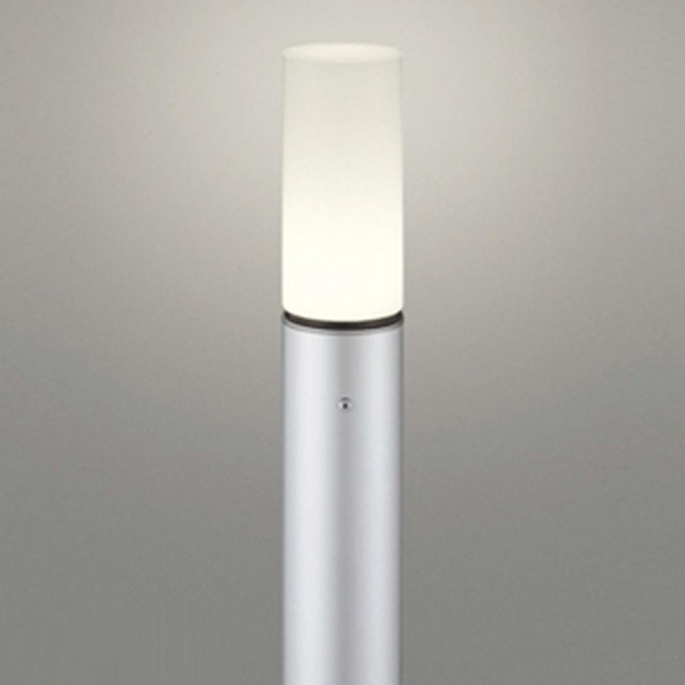オーデリック LEDガーデンライト 防雨型 白熱灯60W相当 電球色 地上高700mm マットシルバー OG254668LD