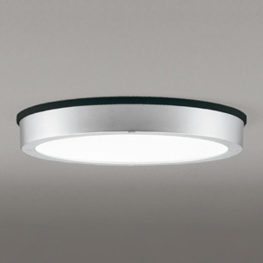 オーデリック LEDシーリングダウンライト 《FLATPLATE》 防雨型 軒下取付専用 FCL30W相当 電球色 非調光タイプ マットシルバー OG254812