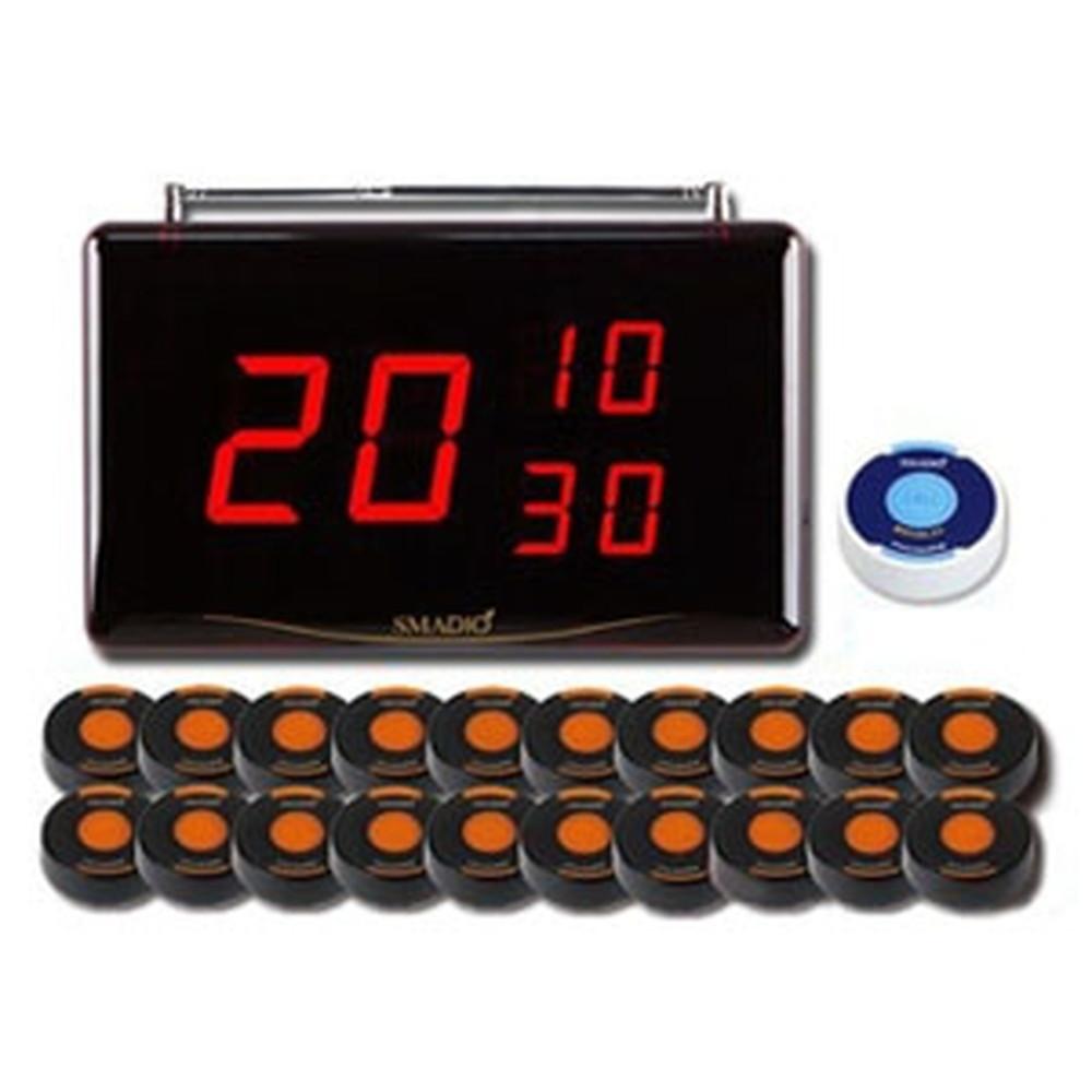 マイコール 業務用呼び出しベル 《スマジオ》 本体受信機1台+消去機1台+送信機20台セット 電波距離約100m ブラック/オレンジ SMDst120ブラック/オレンジ