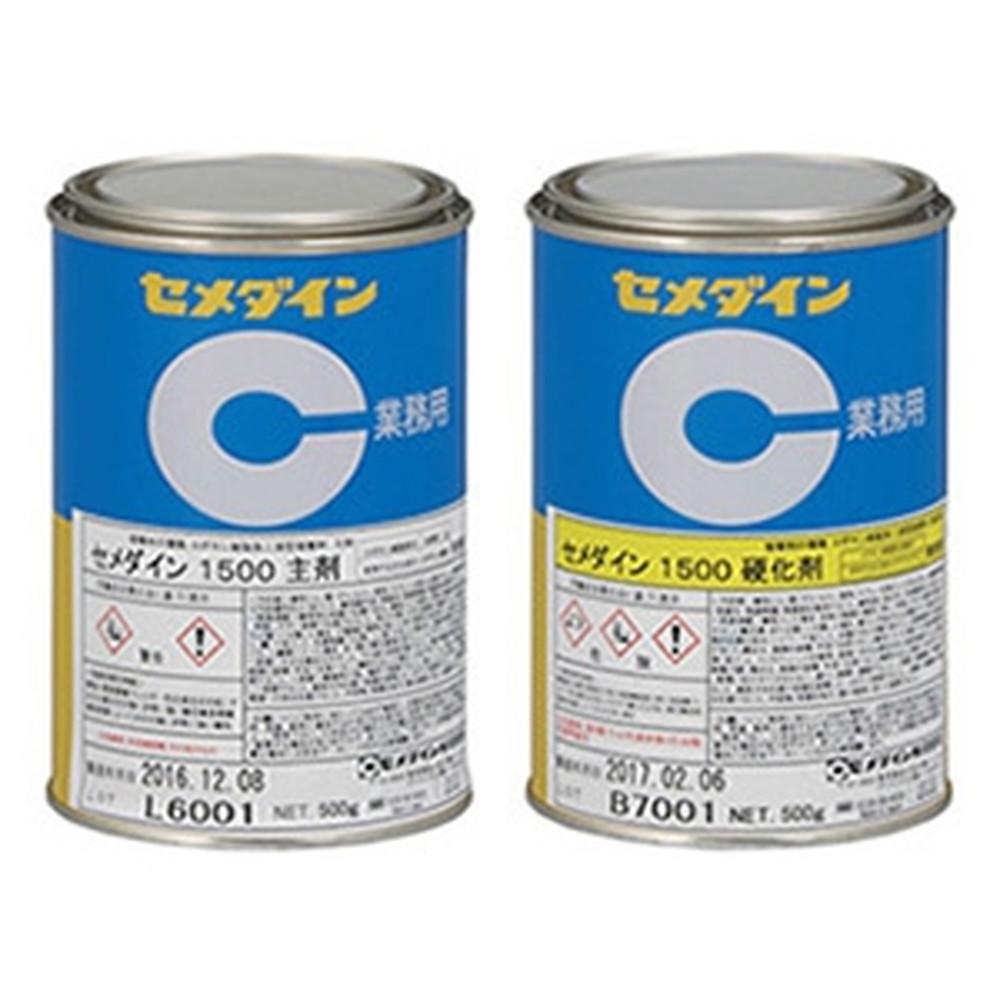 セメダイン 【ケース販売特価 12個セット】 エポキシ樹脂系接着剤 《1500》 2液常温硬化形 汎用 容量1kg AP-242_set