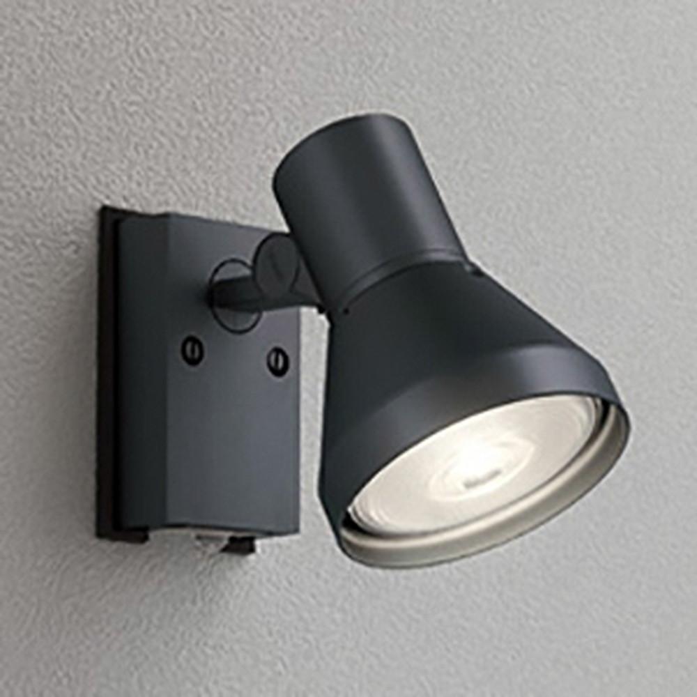 オーデリック LEDスポットライト 防雨型 ビーム球150W相当 E26口金 人感センサ付 ランプ別売 ブラック OG044135