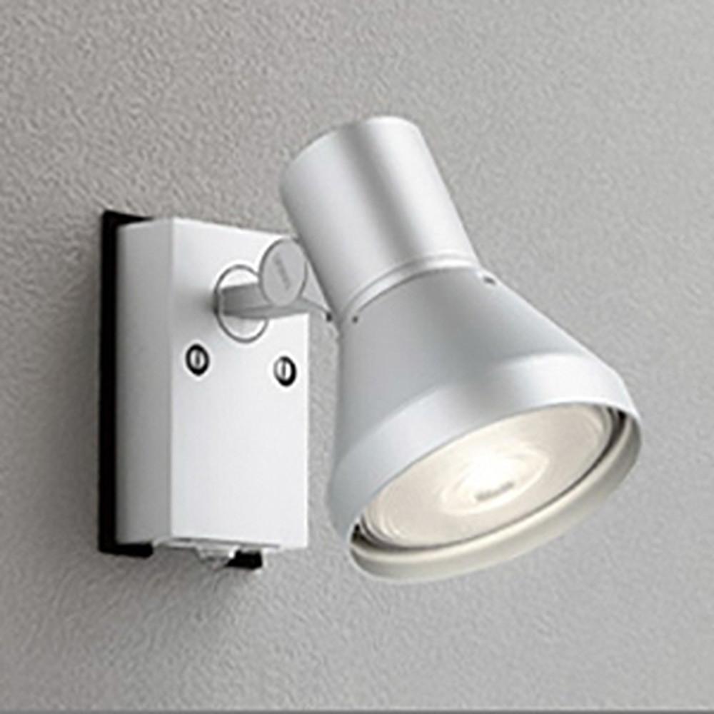 オーデリック LEDスポットライト 防雨型 ビーム球150W相当 E26口金 人感センサ付 ランプ別売 マットシルバー OG044136
