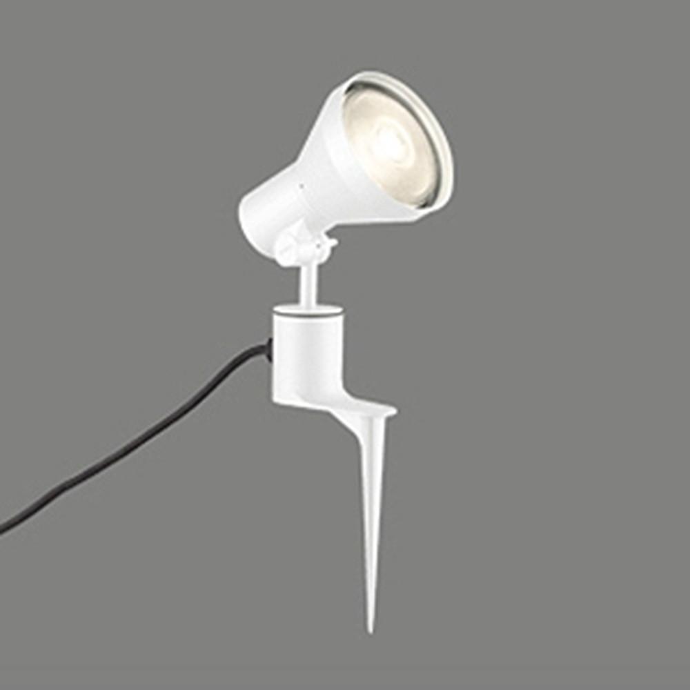 オーデリック LEDスポットライト 防雨型 ビーム球150W相当 E26口金 ランプ別売 オフホワイト OG044141