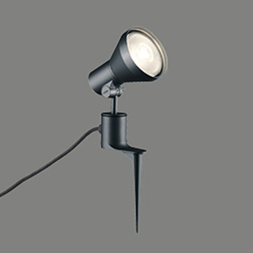 オーデリック LEDスポットライト 防雨型 ビーム球150W相当 E26口金 ランプ別売 ブラック OG044142