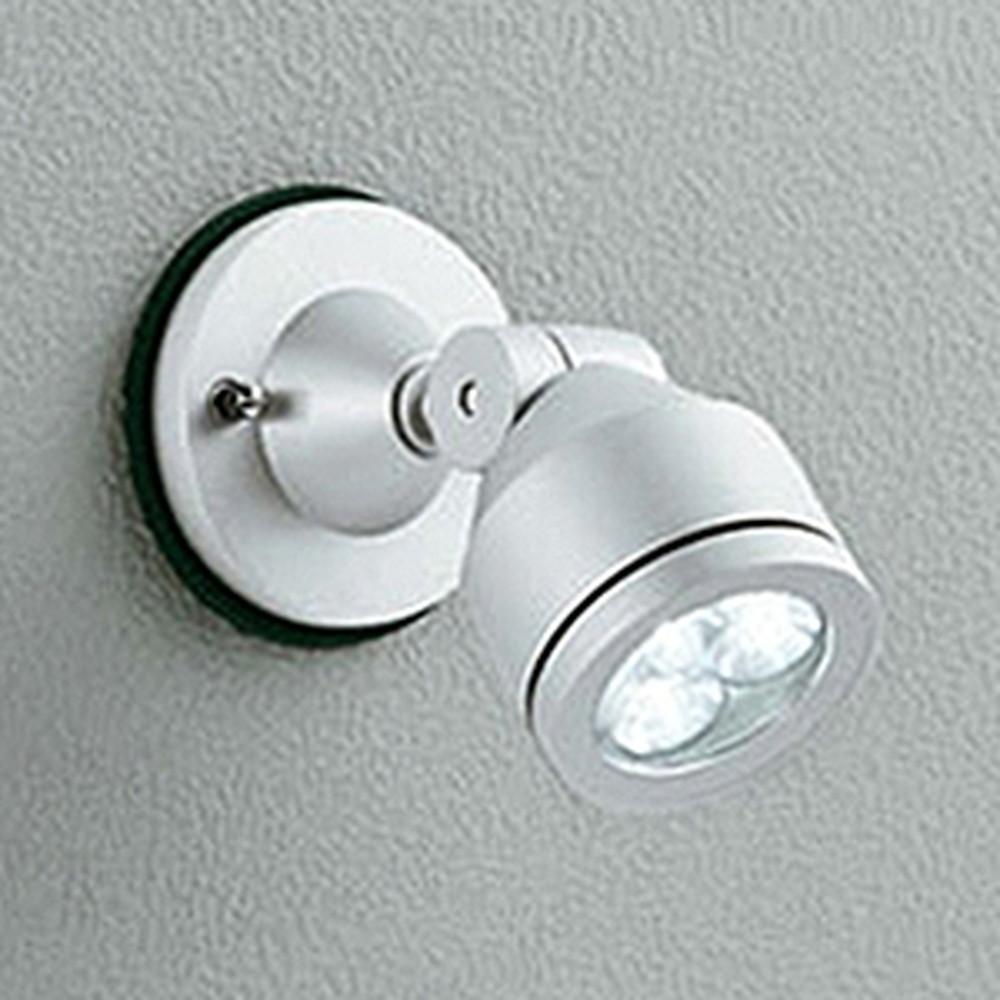 オーデリック LEDスポットライト 防雨型 壁面・天井面取付兼用 JDR50W相当 LED×3灯 電球色 ワイド配光 マットシルバー OG254066