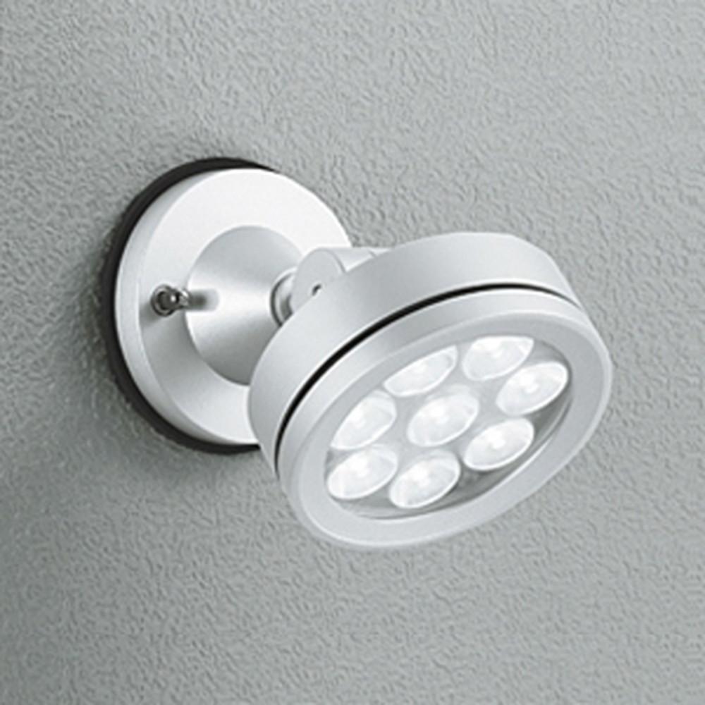 オーデリック LEDスポットライト 防雨型 壁面・天井面取付兼用 ビーム球150W相当 LED×8灯 電球色 ミディアム配光 マットシルバー OG254062