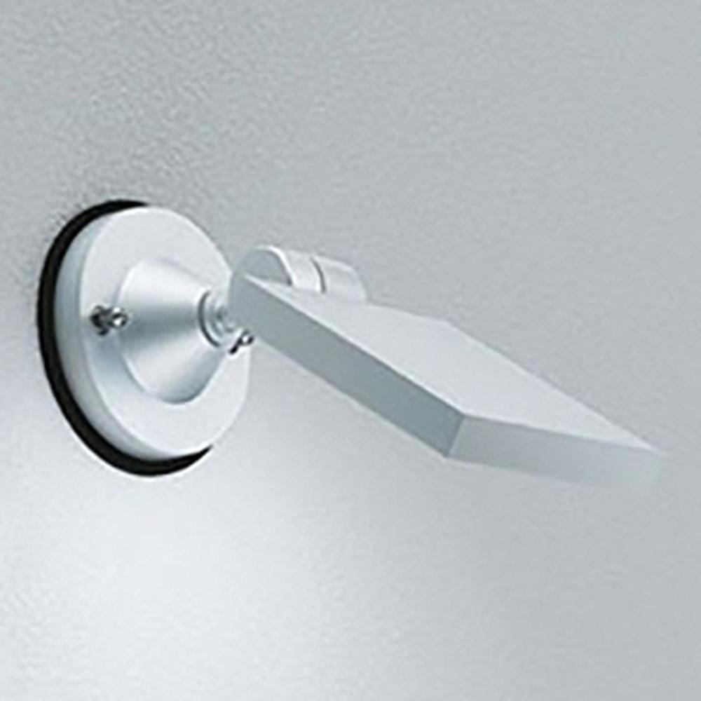 オーデリック LEDスポットライト 防雨型 壁面・天井面取付兼用 白熱灯60W相当 電球色 マットシルバー OG254124