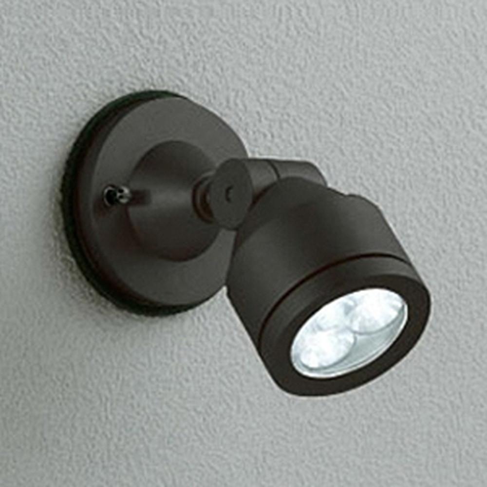 オーデリック LEDスポットライト 防雨型 壁面・天井面取付兼用 JDR50W相当 LED×3灯 昼白色 ワイド配光 ブラック OG254087