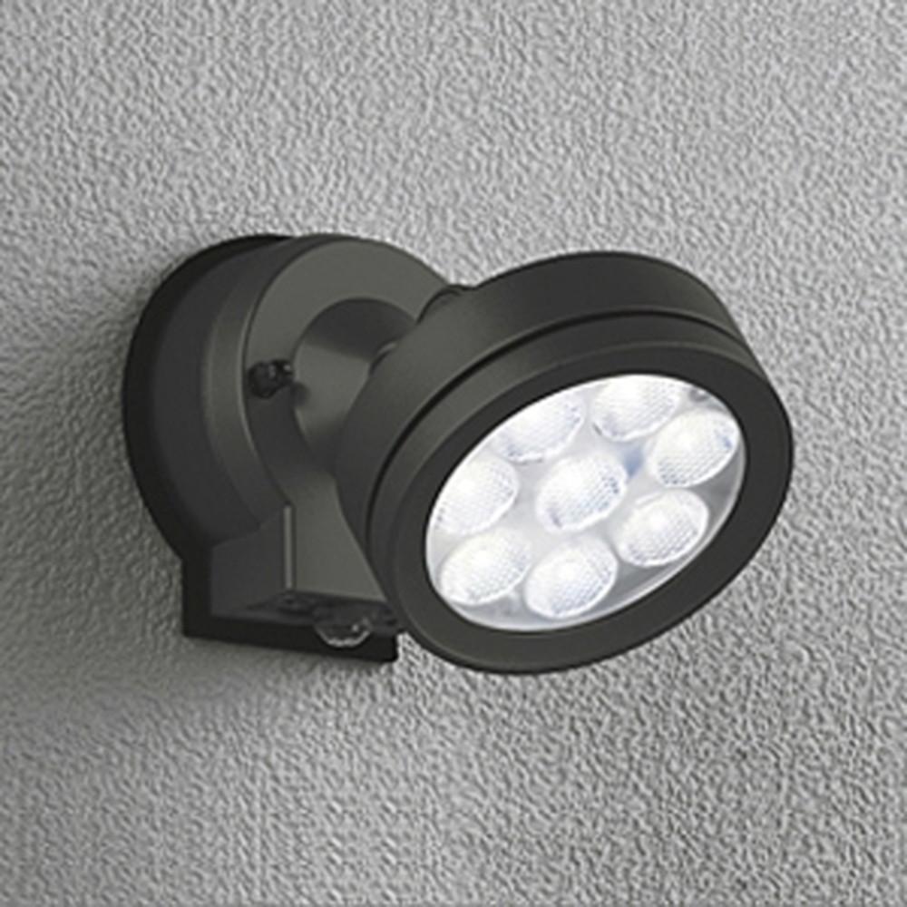 オーデリック LEDスポットライト 防雨型 ビーム球150W相当 LED×8灯 昼白色 ワイド配光 人感センサ付 ブラック OG254213