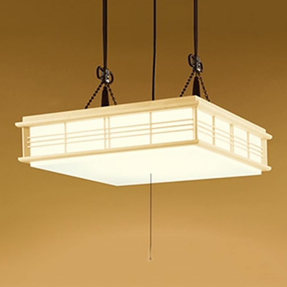 オーデリック LED和風ペンダントライト ~12畳用 電球色~昼光色 調光・調色タイプ リモコン付 OP252114