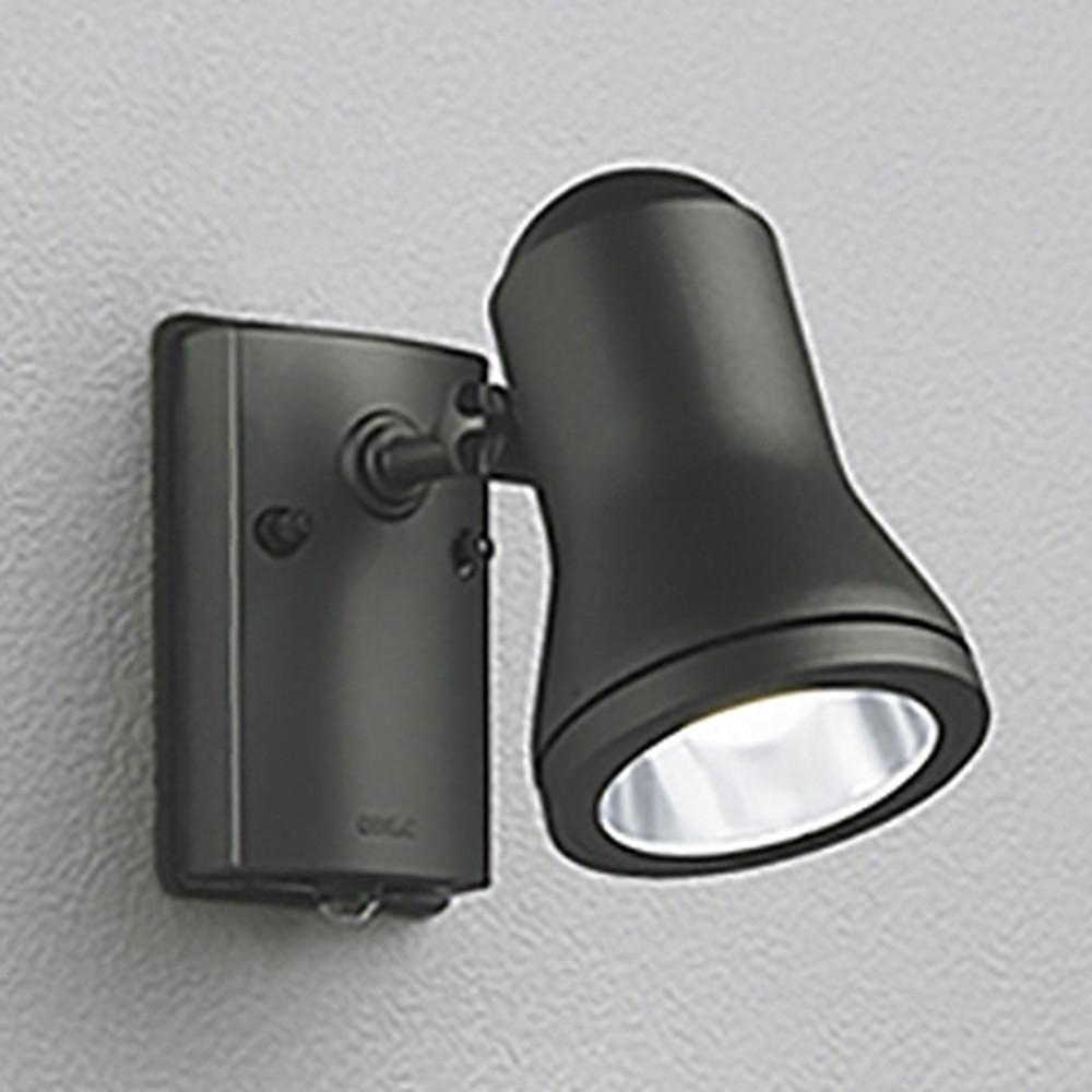 オーデリック LEDスポットライト 防雨型 白熱灯60W相当 昼白色 人感センサ付 黒色サテン OG044185ND