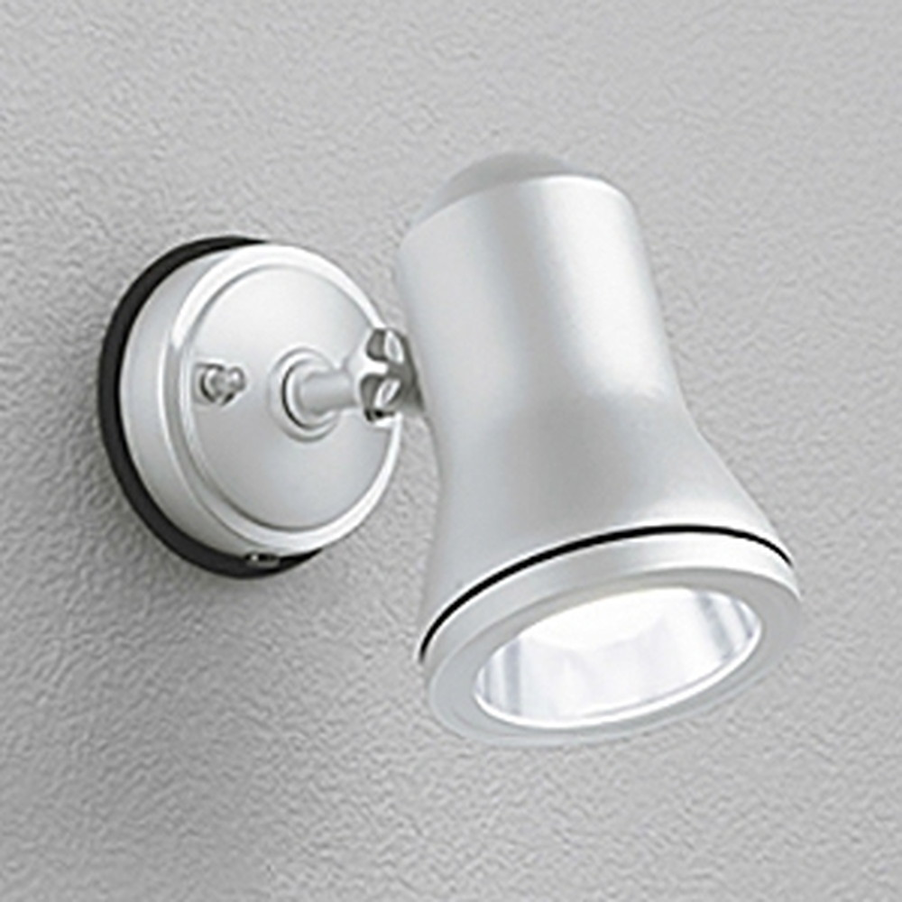 オーデリック LEDスポットライト 防雨型 白熱灯60W相当 昼白色 マットシルバー OG044188ND