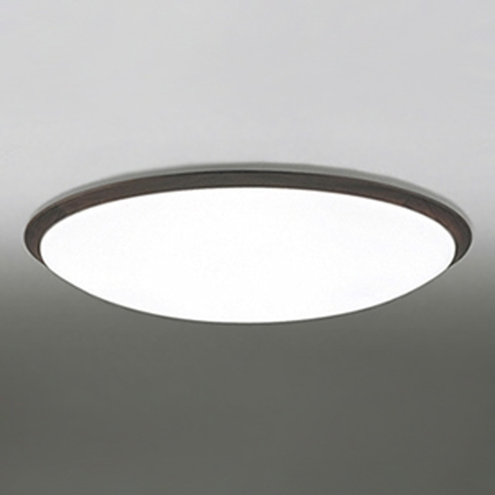 オーデリック LEDシーリングライト ~14畳用 電球色~昼光色 調光・調色タイプ リモコン付 エボニーブラウン OL251260