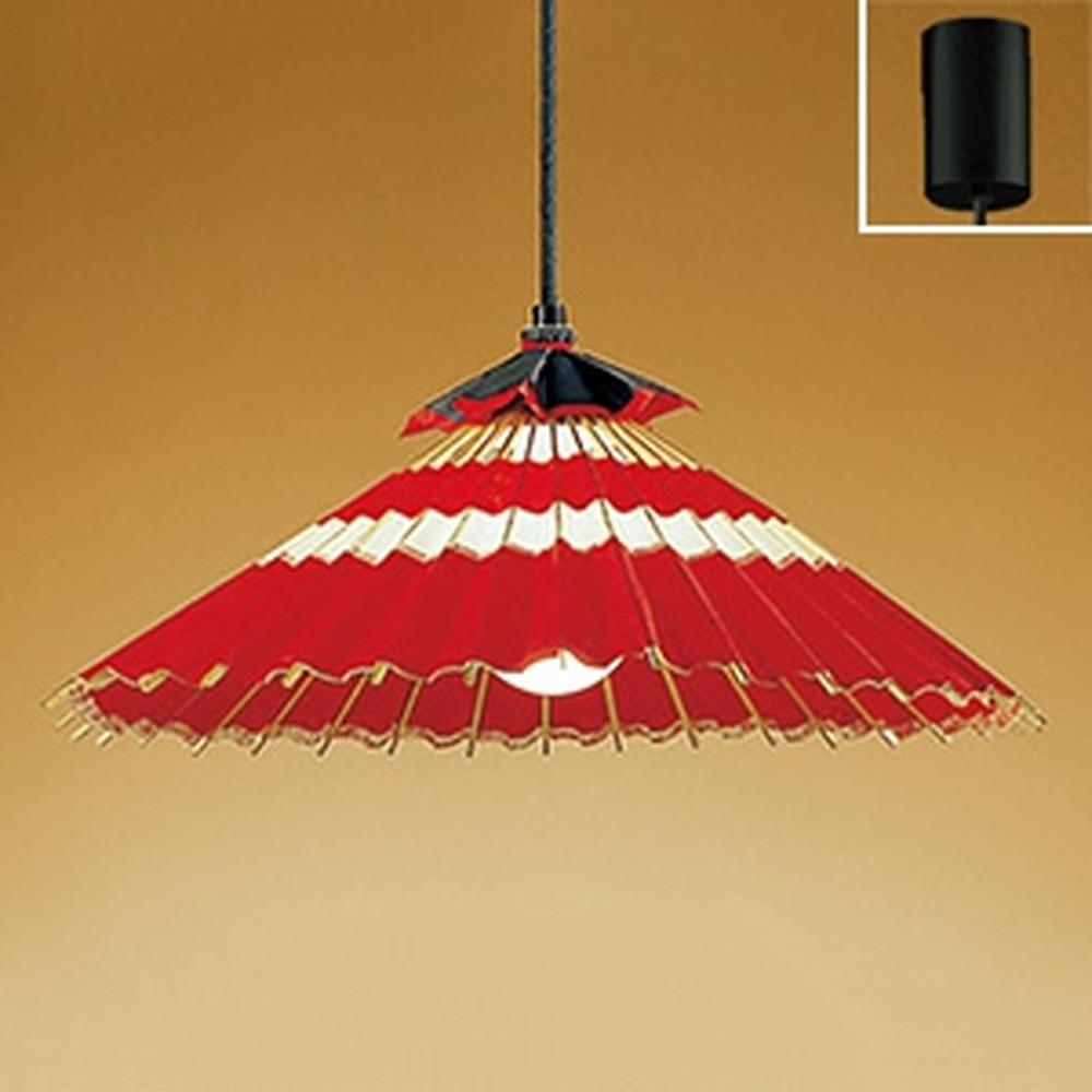 オーデリック LED和風ペンダントライト 白熱灯100W相当 電球色 赤色 OP052017LD