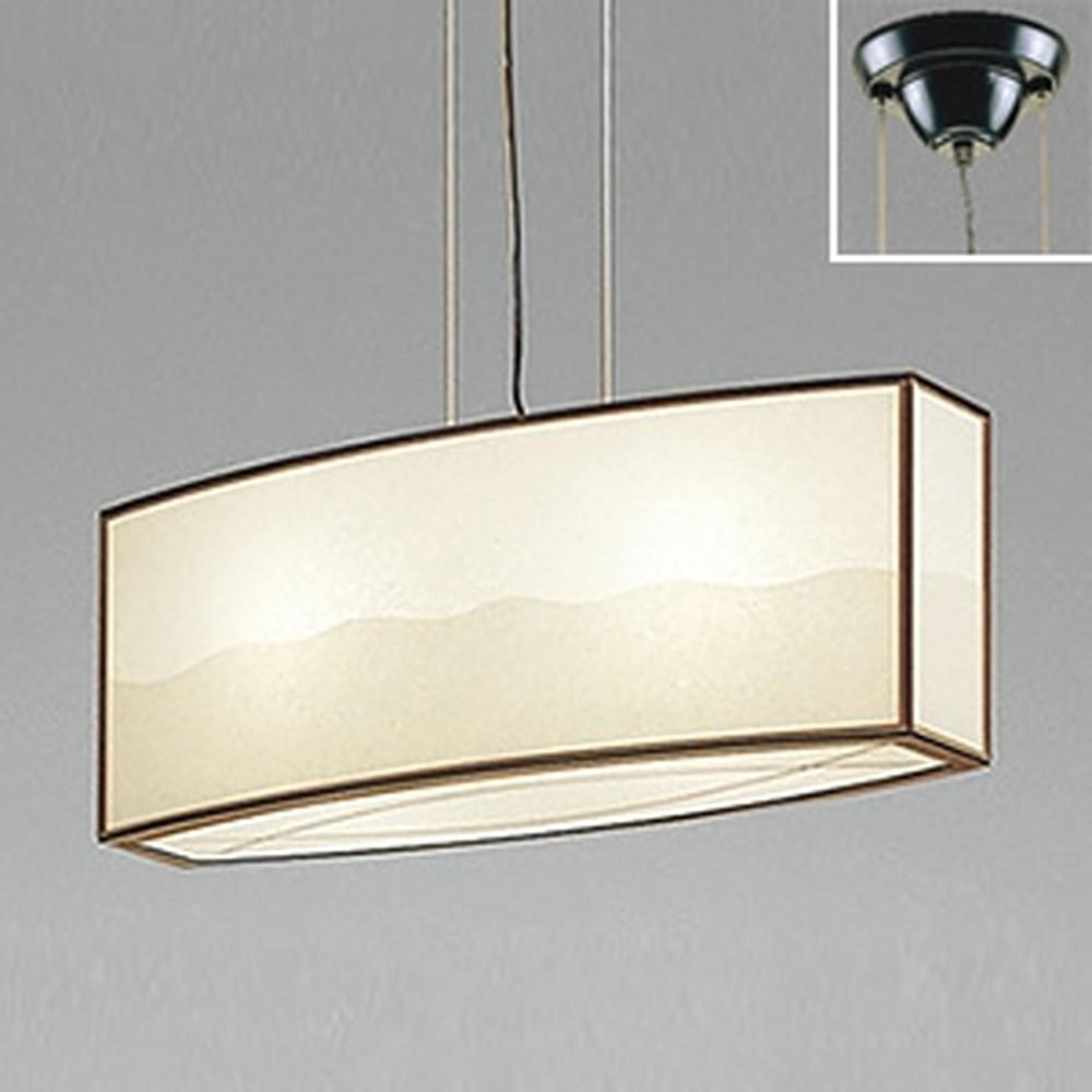 オーデリック LED和風ペンダントライト 白熱灯60W×2灯相当 電球色 調光タイプ OP052034LC