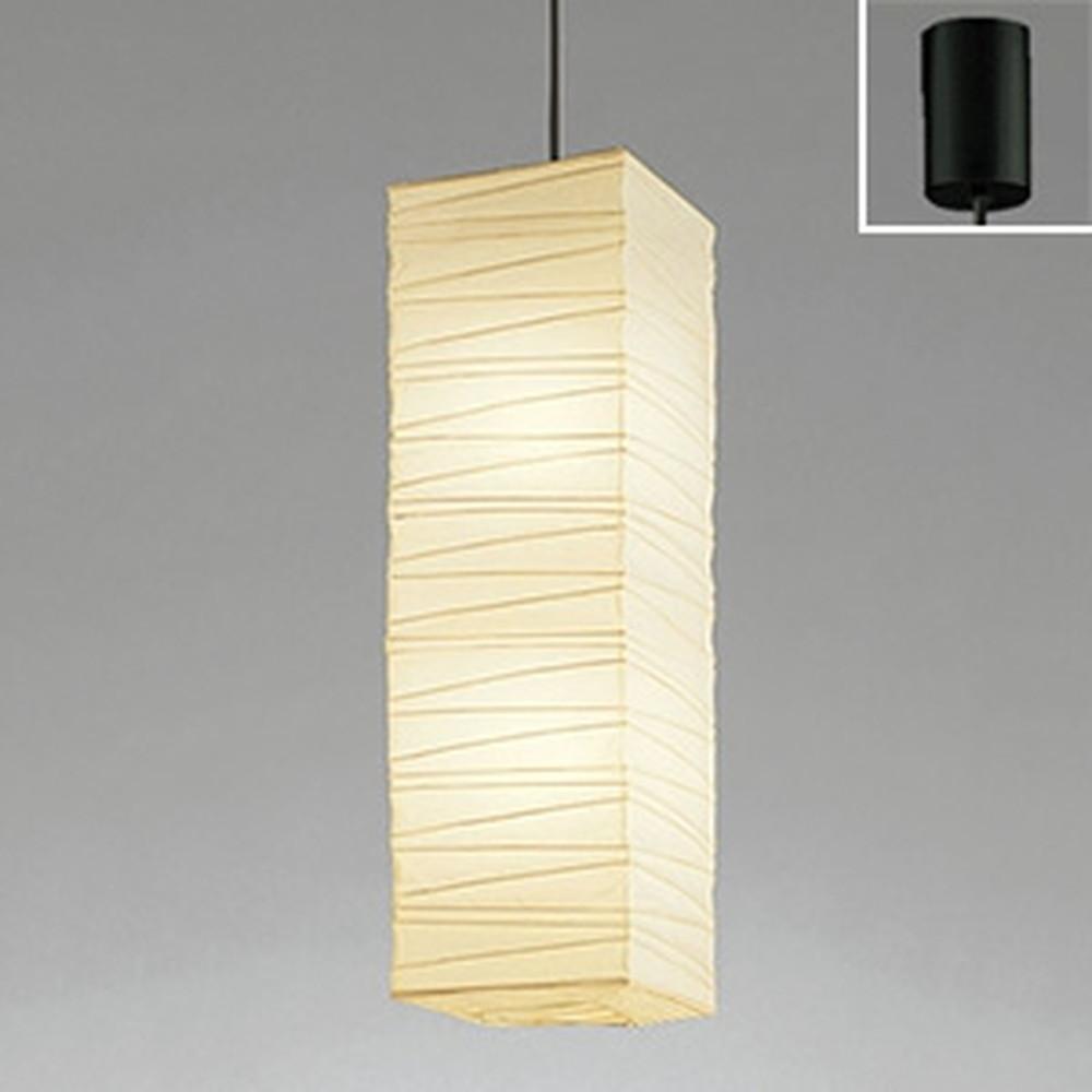 電球色 黒コード 白熱灯100W×2灯相当 LED和風ペンダントライト OP052091LDB オーデリック