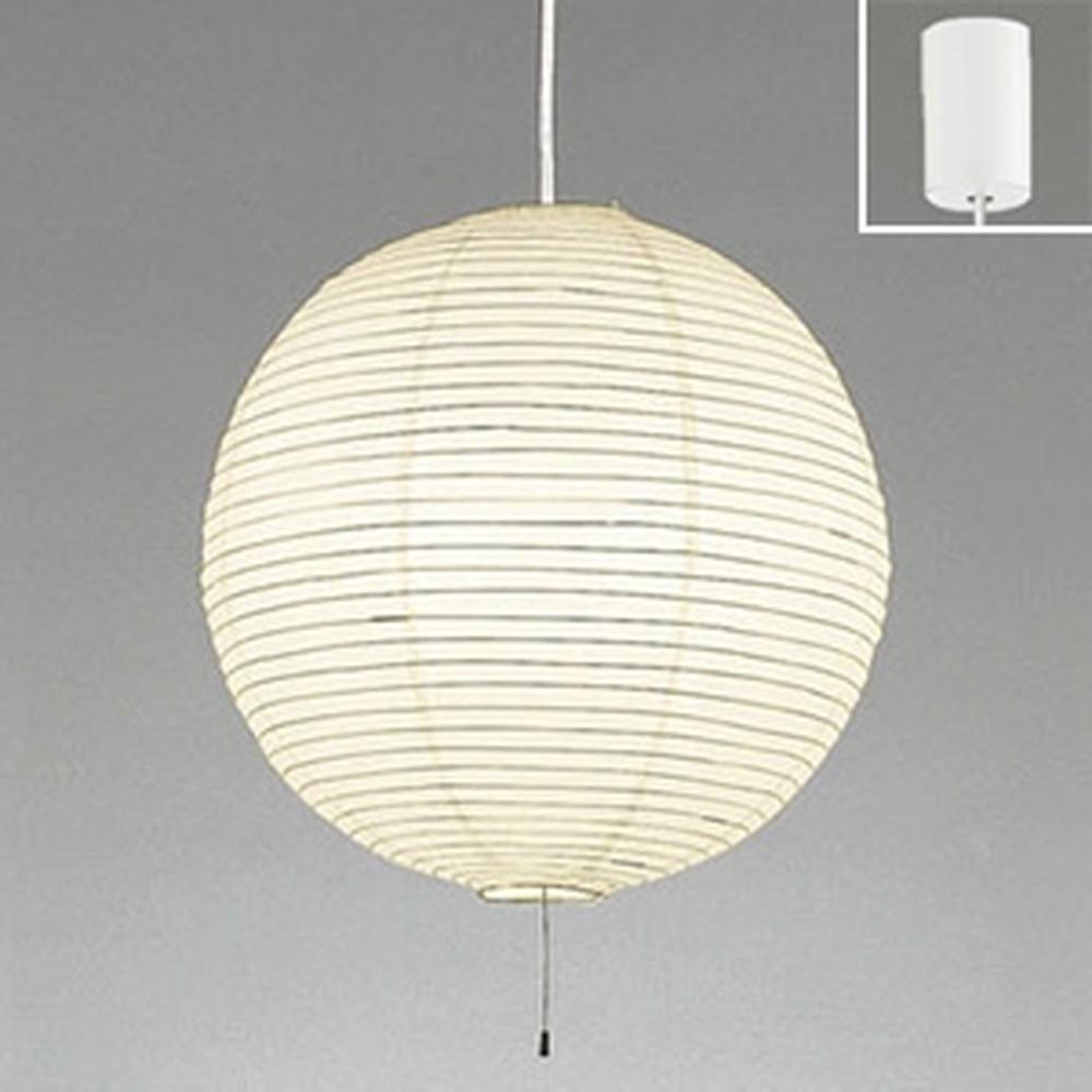 オーデリック LED和風ペンダントライト 白熱灯100W×2灯相当 電球色 白コード OP052283LDW