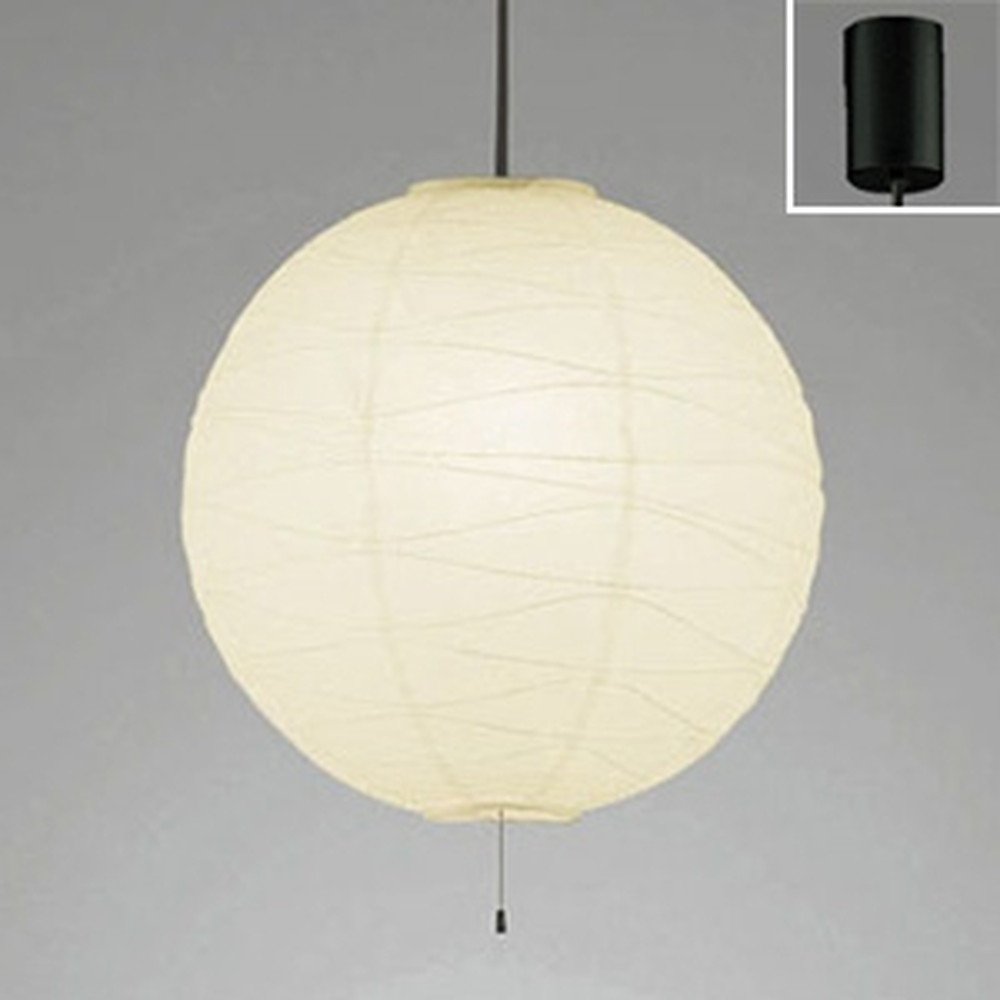 オーデリック LED和風ペンダントライト 白熱灯100W×2灯相当 電球色 黒コード OP052287LDB