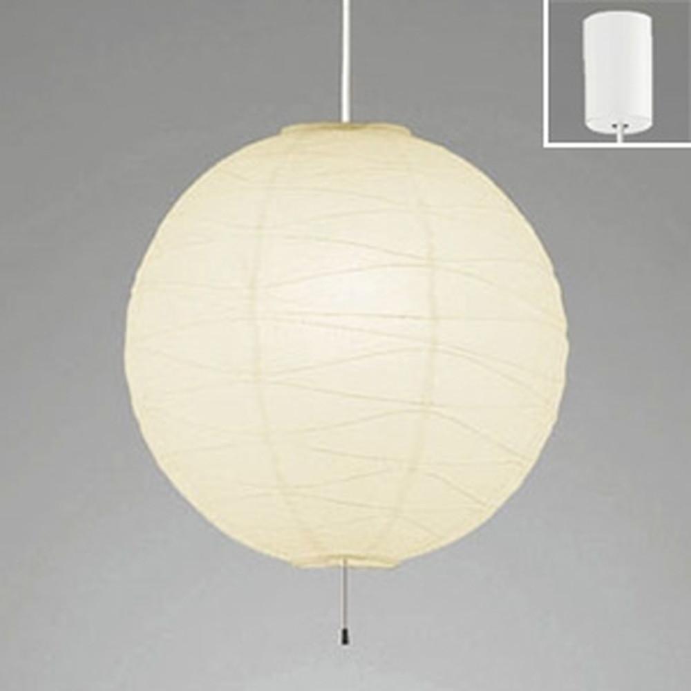 オーデリック LED和風ペンダントライト 白熱灯100W×2灯相当 電球色 白コード OP052287LDW