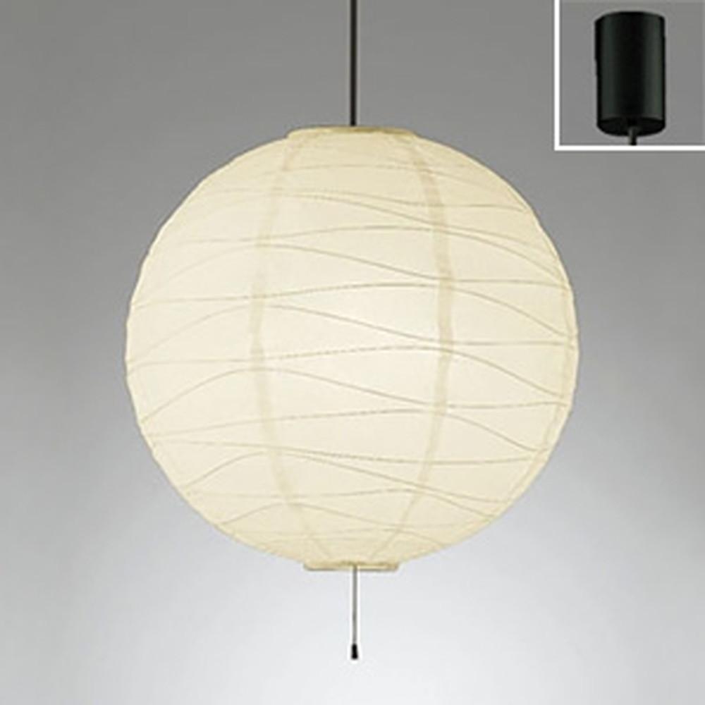 オーデリック LED和風ペンダントライト ~8畳用 LED電球一般形×4灯 電球色 黒コード OP052387LDB