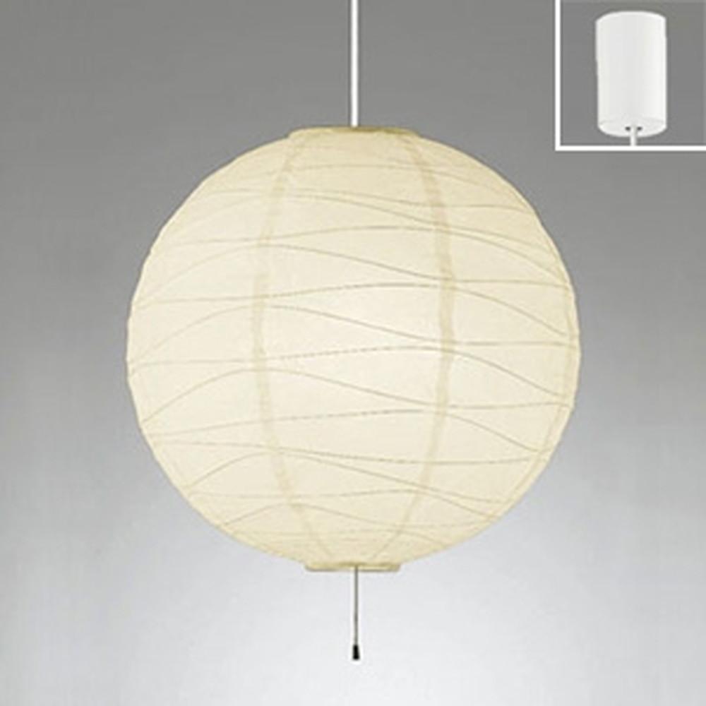 オーデリック LED和風ペンダントライト ~8畳用 LED電球一般形×4灯 電球色 白コード OP052387LDW