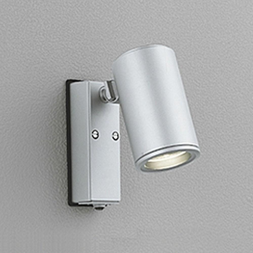 オーデリック LEDスポットライト 防雨型 JDR65W相当 E11口金 人感センサ付 ランプ別売 マットシルバー OG254553
