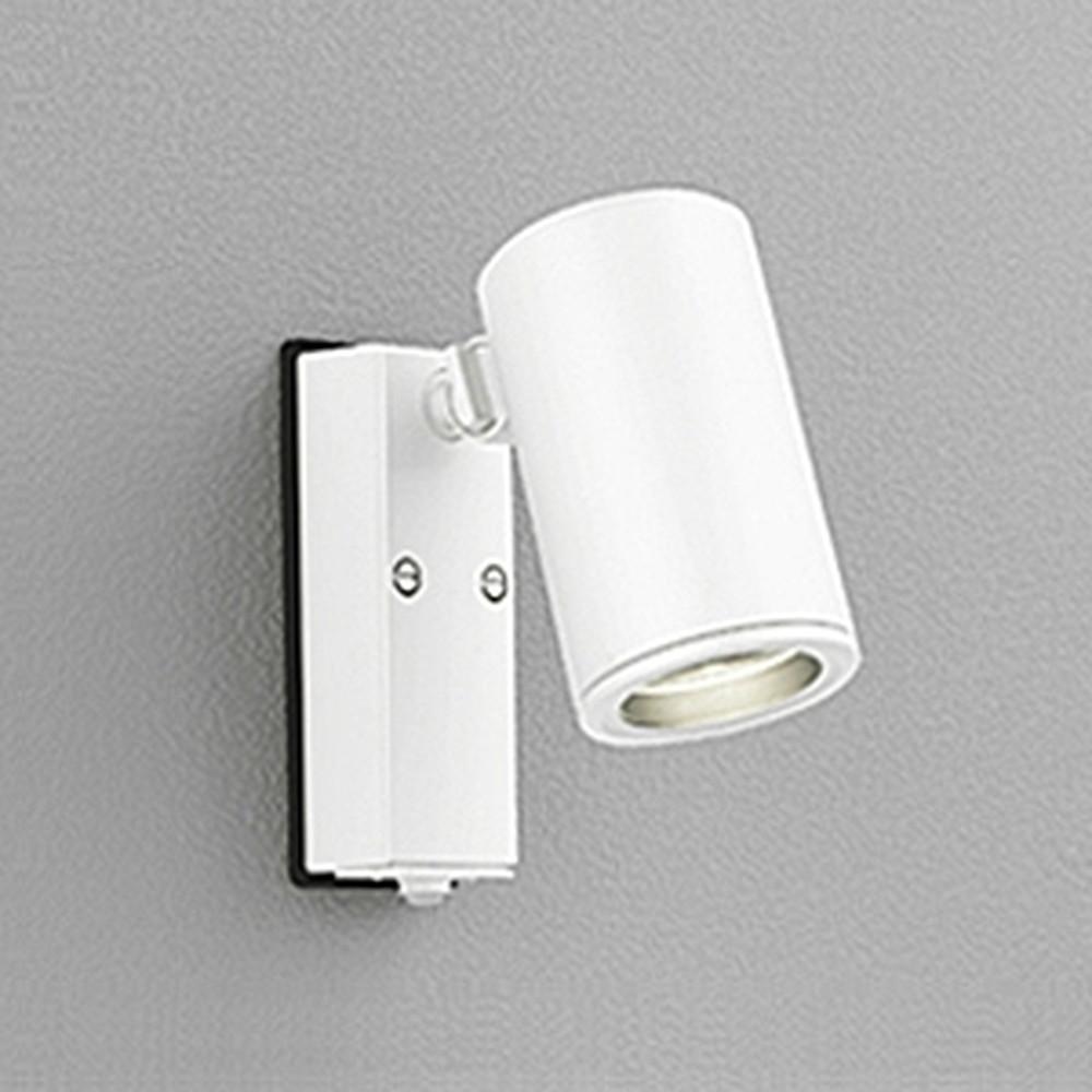 オーデリック LEDスポットライト 防雨型 JDR65W相当 E11口金 人感センサ付 ランプ別売 オフホワイト OG254551