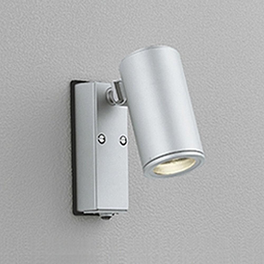 オーデリック LEDスポットライト 防雨型 JDR50W相当 E11口金 人感センサ付 ランプ別売 マットシルバー OG254556