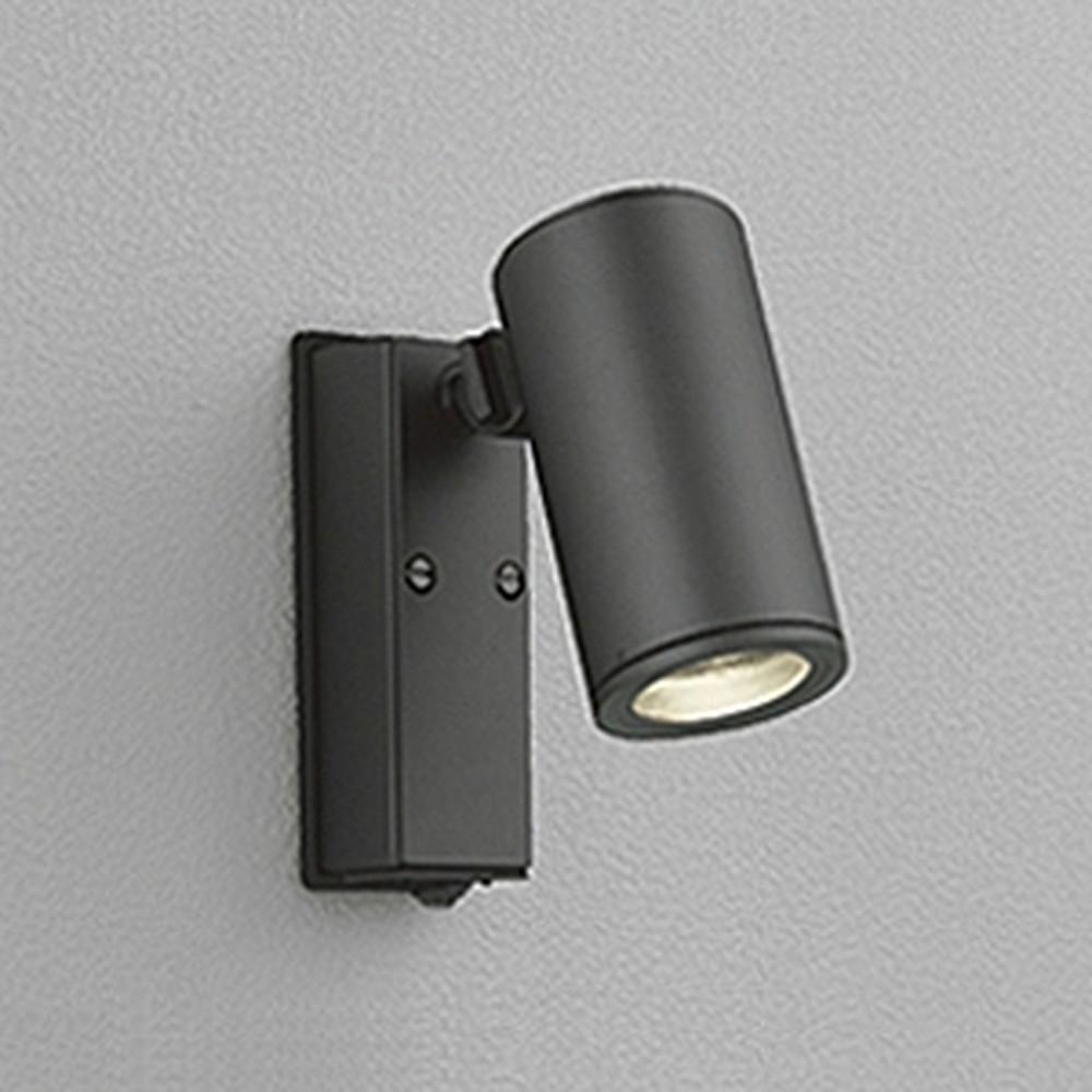 オーデリック LEDスポットライト 防雨型 JDR50W相当 E11口金 人感センサ付 ランプ別売 ブラック OG254555
