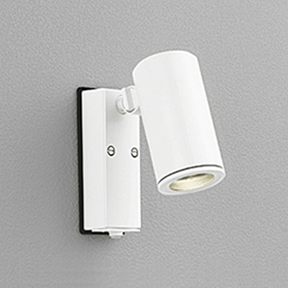 オーデリック LEDスポットライト 防雨型 JDR50W相当 E11口金 人感センサ付 ランプ別売 オフホワイト OG254554