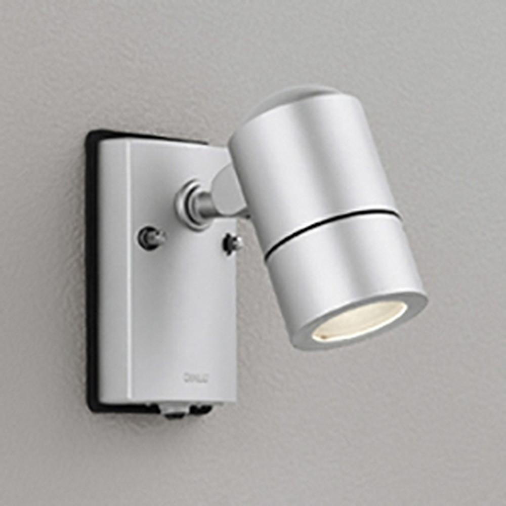 オーデリック LEDスポットライト 防雨型 白熱灯50W相当 電球色 人感センサ付 マットシルバー OG254568LD