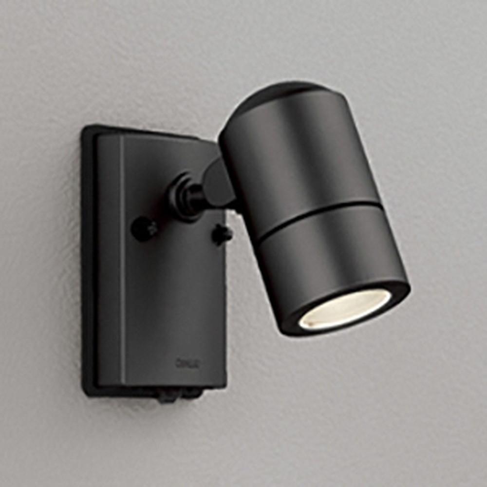 オーデリック LEDスポットライト 防雨型 白熱灯50W相当 電球色 人感センサ付 黒色サテン OG254567LD