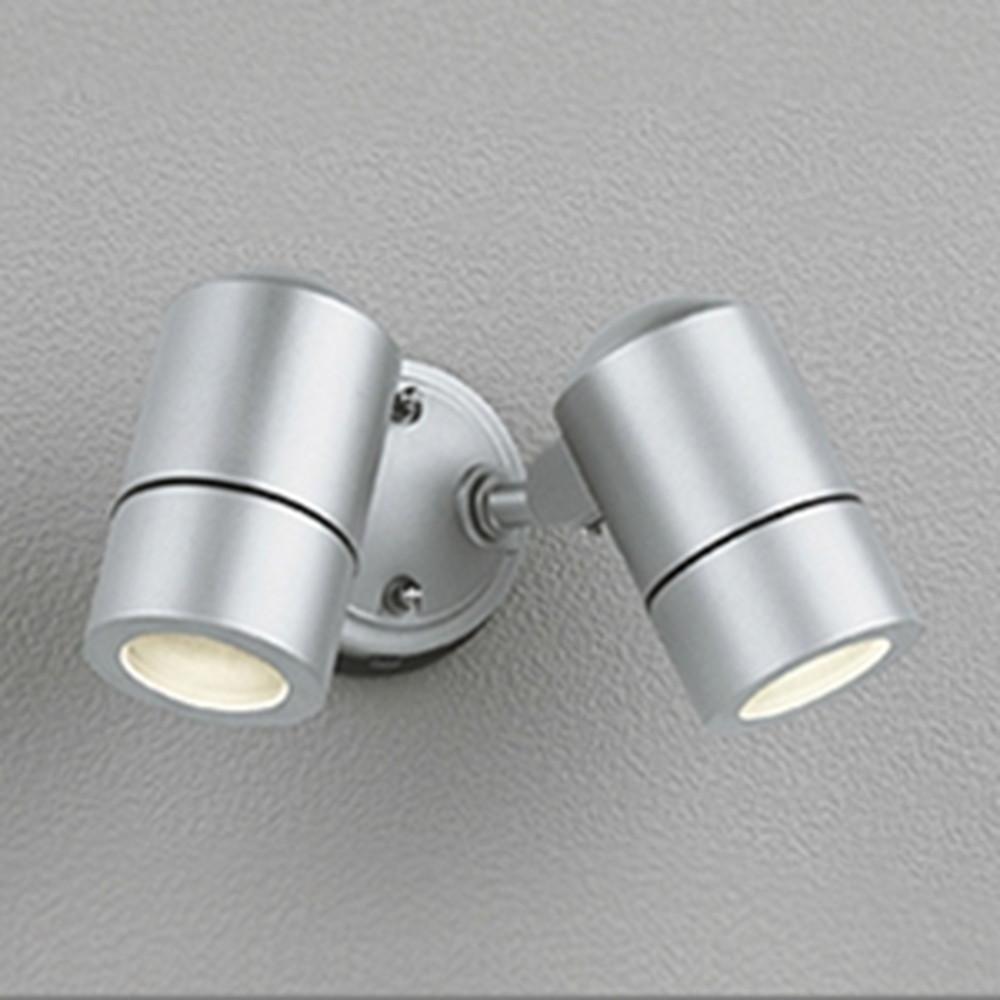 オーデリック LEDスポットライト 防雨型 白熱灯50W×2灯相当 電球色 マットシルバー OG254565LD