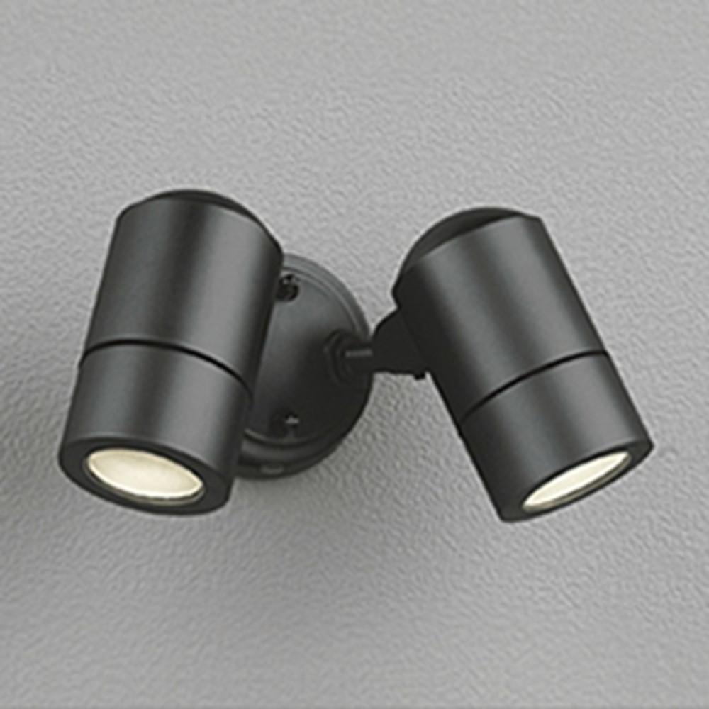 オーデリック LEDスポットライト 防雨型 白熱灯50W×2灯相当 電球色 黒色サテン OG254564LD