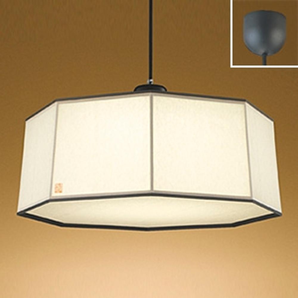 オーデリック LED和風ペンダントライト ~8畳用 電球色 杉(黒色) OP252393