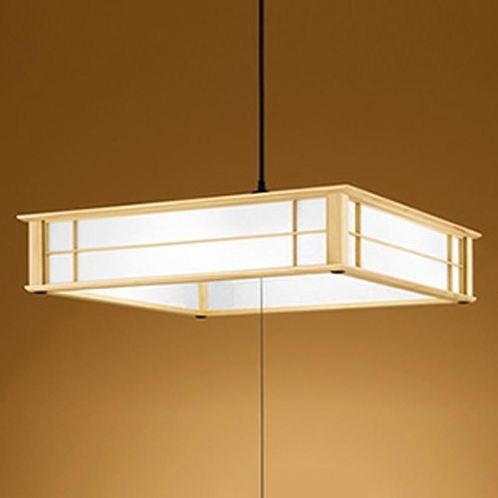 オーデリック LED和風ペンダントライト ~12畳用 電球色~昼光色 調光・調色タイプ リモコン付 OP252238