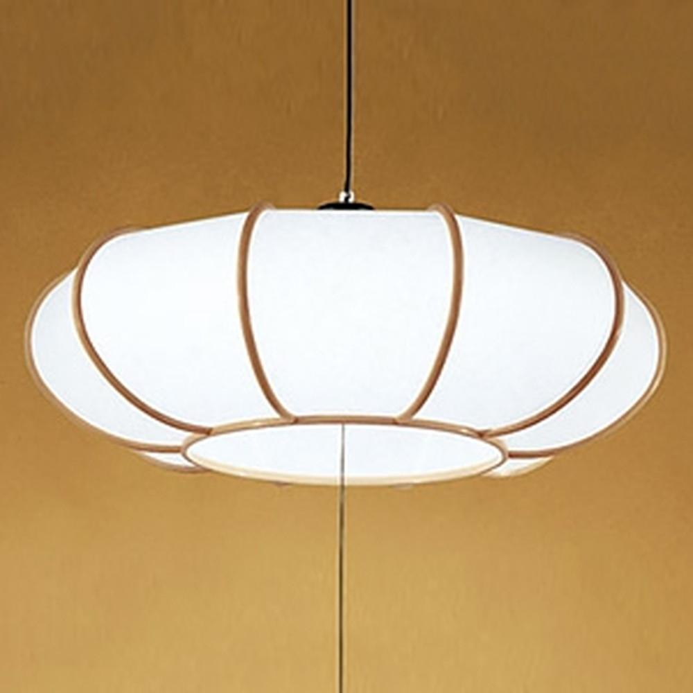 オーデリック LED和風ペンダントライト ~12畳用 電球色~昼光色 調光・調色タイプ リモコン付 OP252237