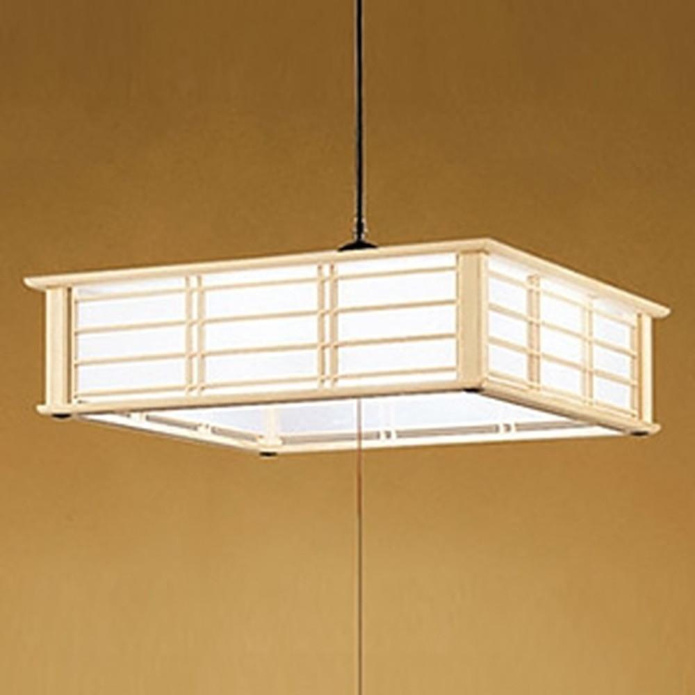 オーデリック LED和風ペンダントライト ~12畳用 電球色~昼光色 調光・調色タイプ リモコン付 OP252283