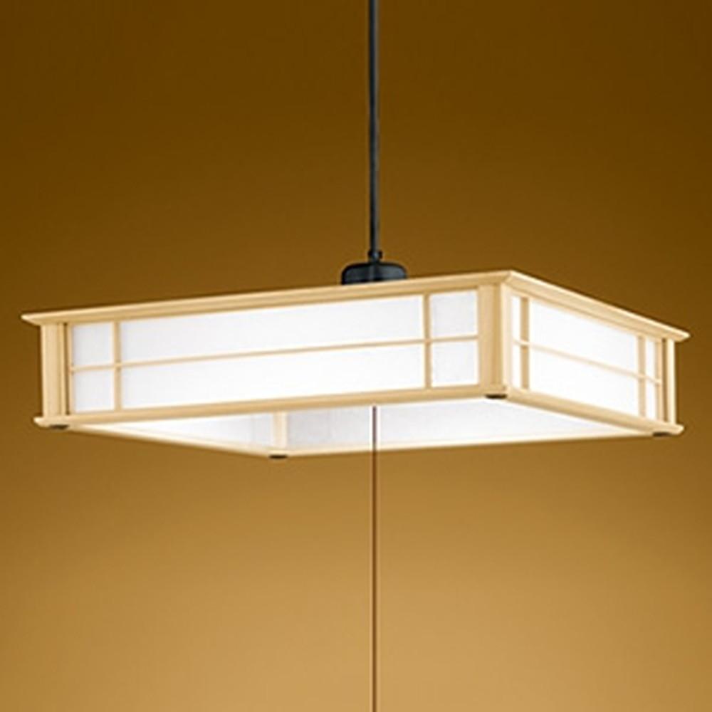 オーデリック LED和風ペンダントライト ~8畳用 電球色~昼光色 調光・調色タイプ リモコン付 OP252406