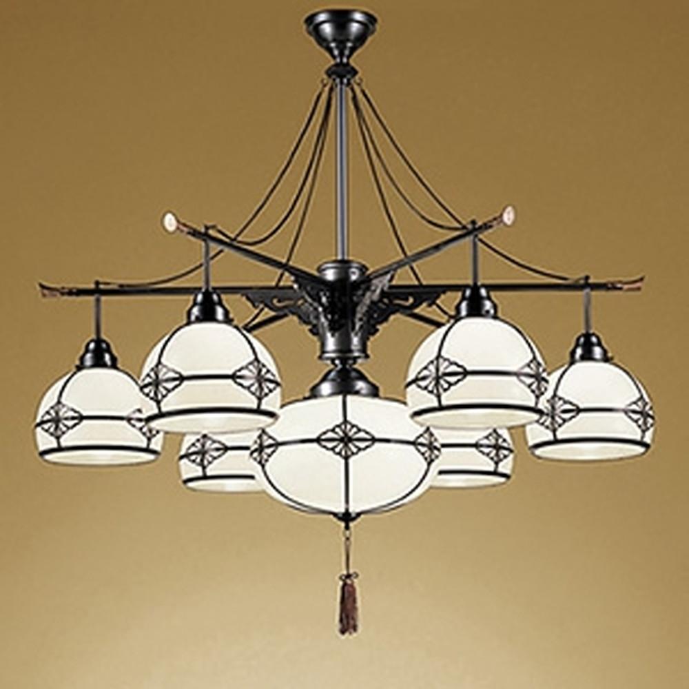 オーデリック LED和風シャンデリア ~10畳用 LED電球一般形×7灯 電球色~昼光色 調光・調色タイプ Bluetooth®対応 OC125012BC