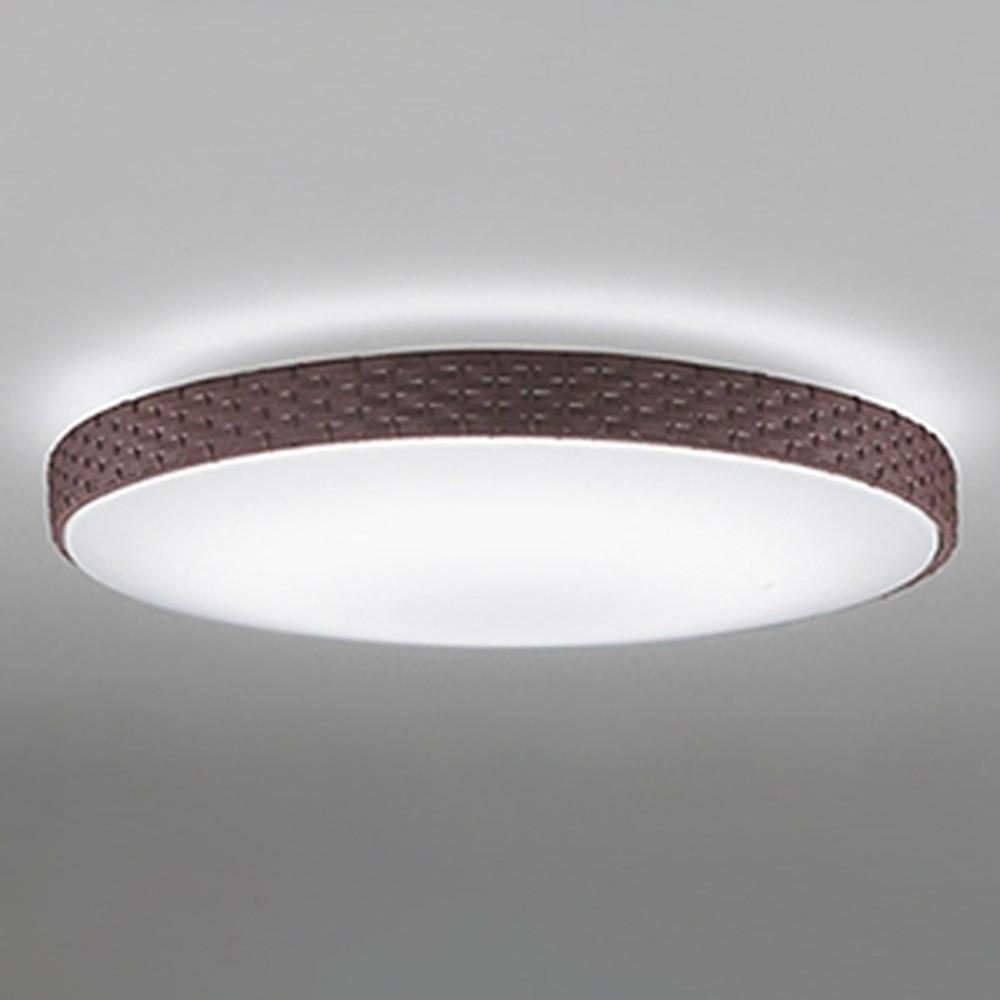 オーデリック LEDシーリングライト ~8畳用 電球色~昼光色 調光・調色タイプ リモコン付 こげ茶 OL251829