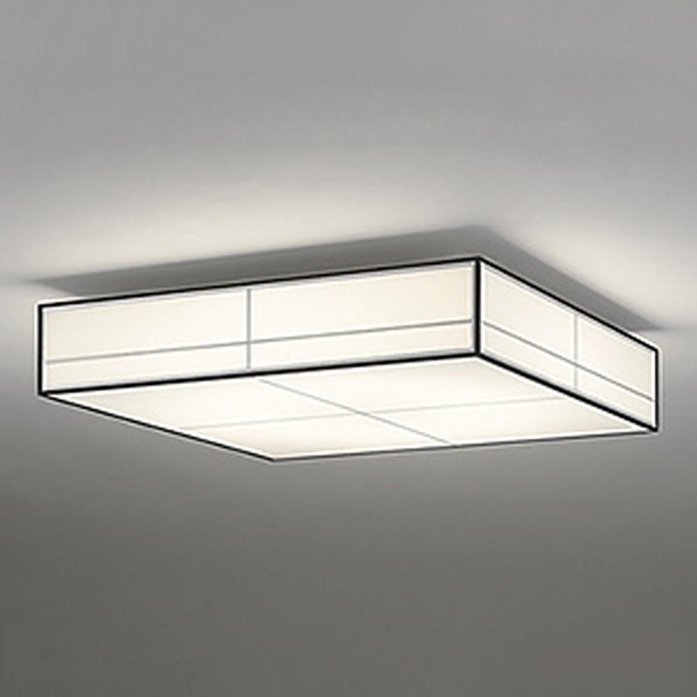 オーデリック LED和風シーリングライト ~10畳用 電球色~昼光色 調光・調色タイプ リモコン付 白木(オイルステイン) OL251837